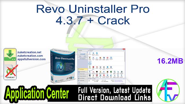 Revo Uninstaller Pro 4.3.7 + Crack
