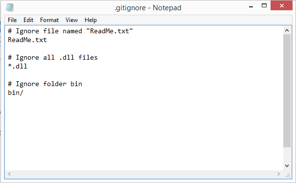 .gitignore file in Sourcetree/Git