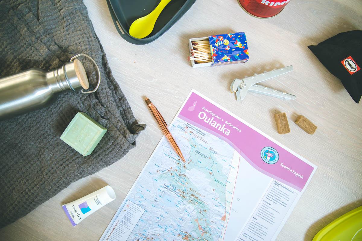 Lähdössä Karhunkierrokselle? Postauksessa kerron reittisuunnitelmamme päiväetapeihin ja julkisilla kulkemiseen.