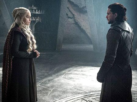 Game of thrones 7 сезон Джон и Денерис първа среща