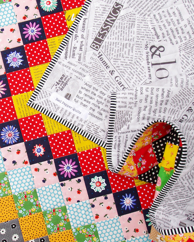 A Giant Granny Square Quilt - backing fabric | Trip Around the World Quilt | Red Pepper Quilts 2016