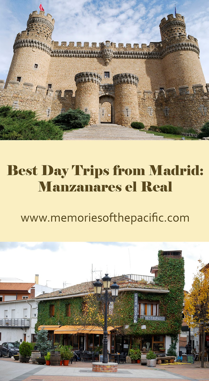 madrid manzanares real castle castillo natural park nature hiking trail day trip historical site spain
