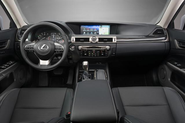 Interior view of 2017 Lexus GS200t