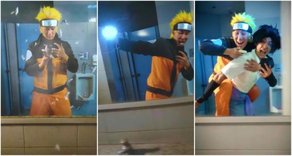 Viral Naruto Mirror Run Challenge Video