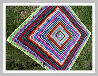 Muitas Cores em crochet