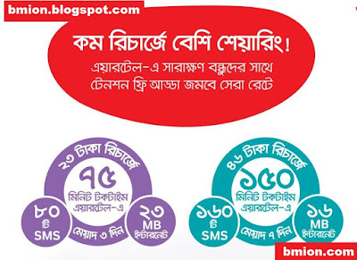 airtel-Recharge-Based-Bundles-4X-Benefits-Recharge-16TK-23Tk-46Tk-115Tk-230Tk-kom-recharge-beshi-sharing.