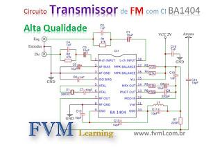Circuito Transmissor de FM com CI BA1404 de Alta Qualidade