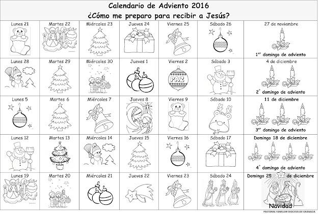Parroquia la inmaculada adviento y navidad 2016 for Calendario adviento 2017