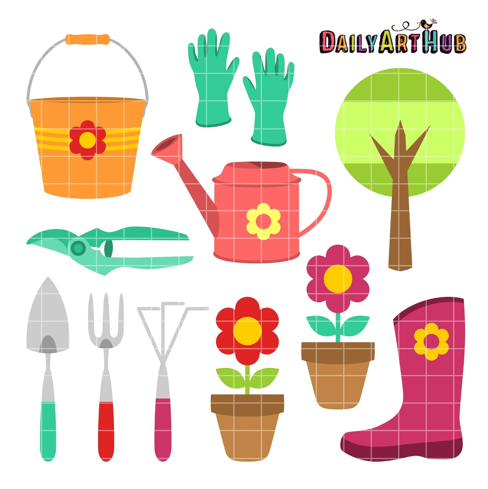 Designworks lessons 39 painting 39 a garden trowel for Things used for gardening