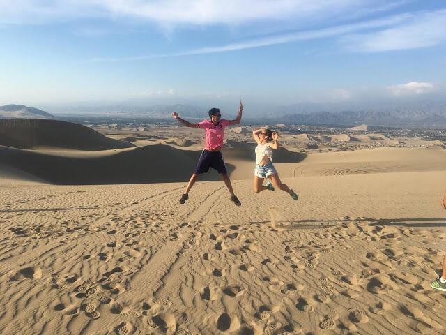 salto en el desierto