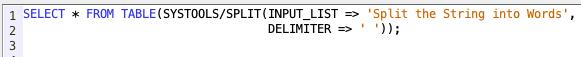 Split string into words in SQL - IBM i