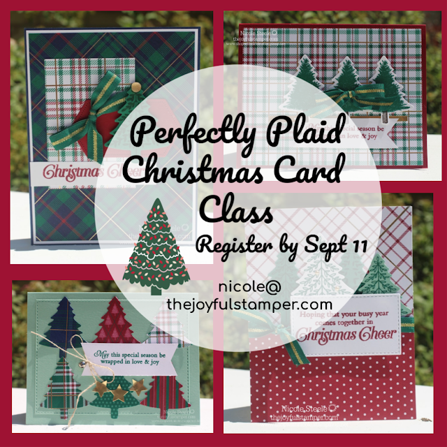Perfectly Plaid Christmas Card Class by Nicole Steele The Joyful Stamper