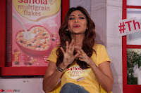 Shilpa Shetty super cute fit in Yellow T Shirt 4.JPG