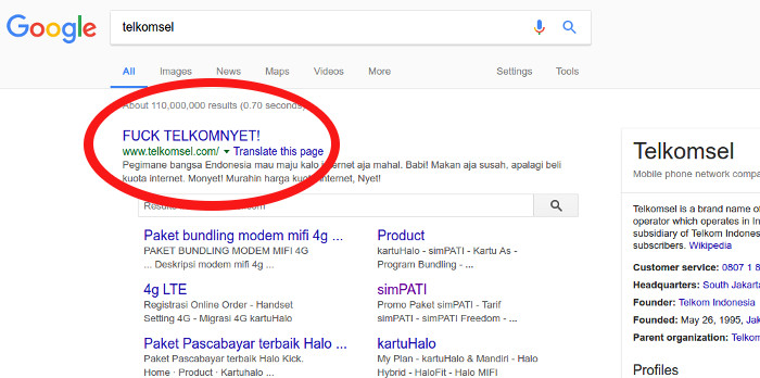 Fu K Telkomnyet Website Telkomsel Di Hack Nuntut Harga Kuota