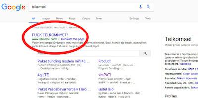 website-telkomsel-error-dibajak-hacker