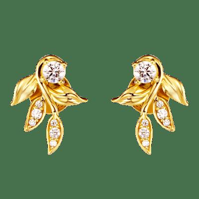 Bông tai Vàng 10K đính đá ECZ Swarovski PNJ Mystery