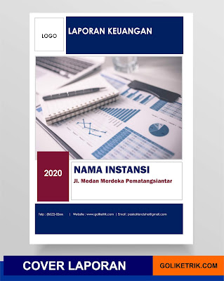 Download Template Cover Laporan Keuangan Docx Word Goliketrik