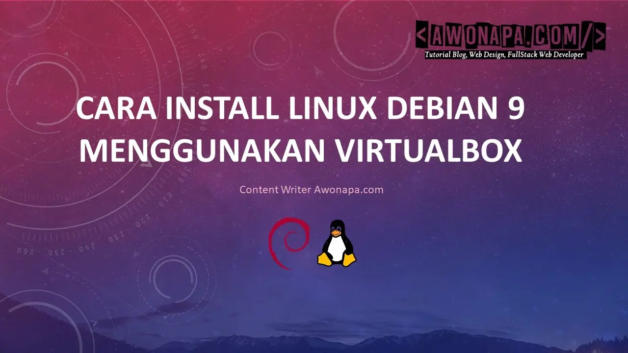 Cara Install Linux Debian 9