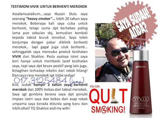 testimoni vivix shaklee merokok