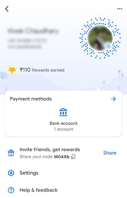 Payment method - Bank account