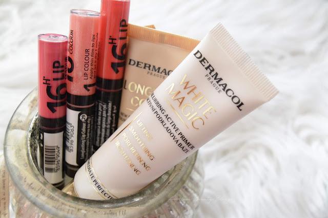 DERMACOL│LongWear Cover dlouhotrvající krycí makeup a White Magic podkladová báze