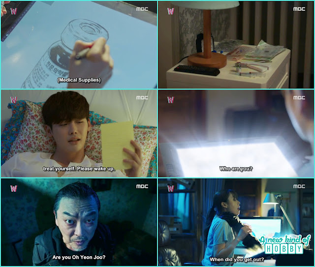Yeon Joo draw medicine, injection and prescription for Kang Chul  - W - Episode 11 Review