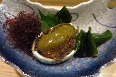 Kyoten Japanese Cuisine, abalone liver sauce