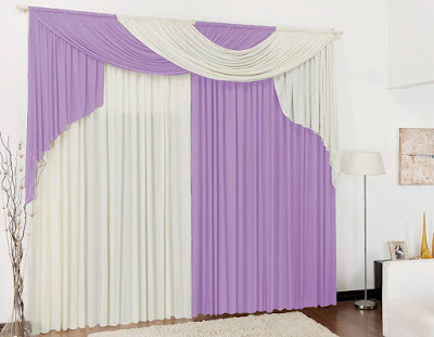 purple curtains for bedroom with white contrast