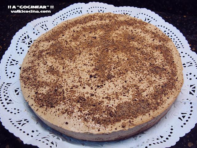 Tarta fría de chocolate, trufa y stracciatella