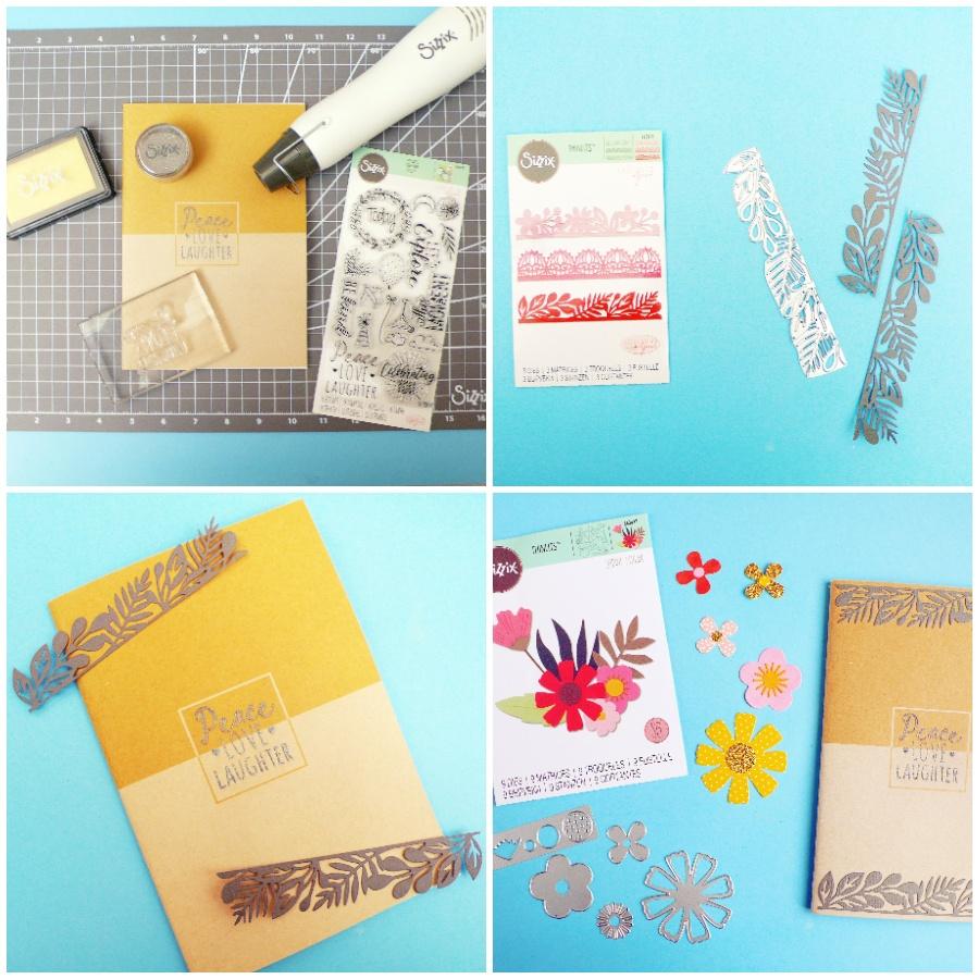 decorare il tuo quaderno con embossing e fustellate