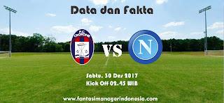 Data dan Fakta Liga Fantasia Crotone vs Napoli Fantasi Manager Indonesia