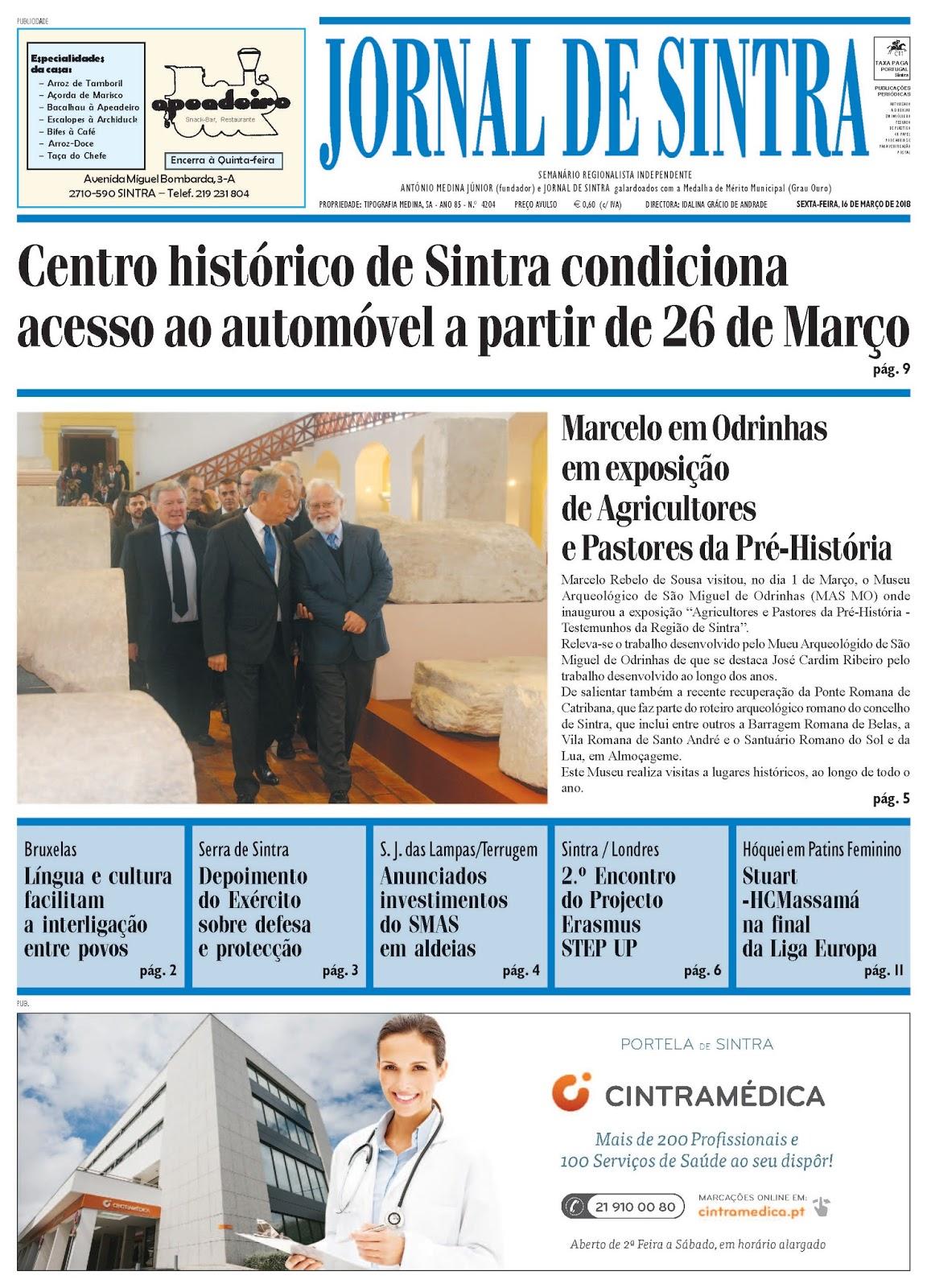 Capa da edição de 16-03-2018