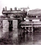 Beaufort's first train backing into town