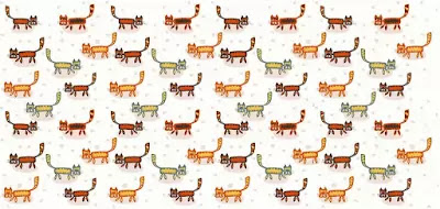 Q 4. Are you ready fur this one? Let's see how many cats you can find!