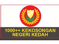 Jawatan Kosong di Negeri Kedah 2021 - 1000++ Kekosongan