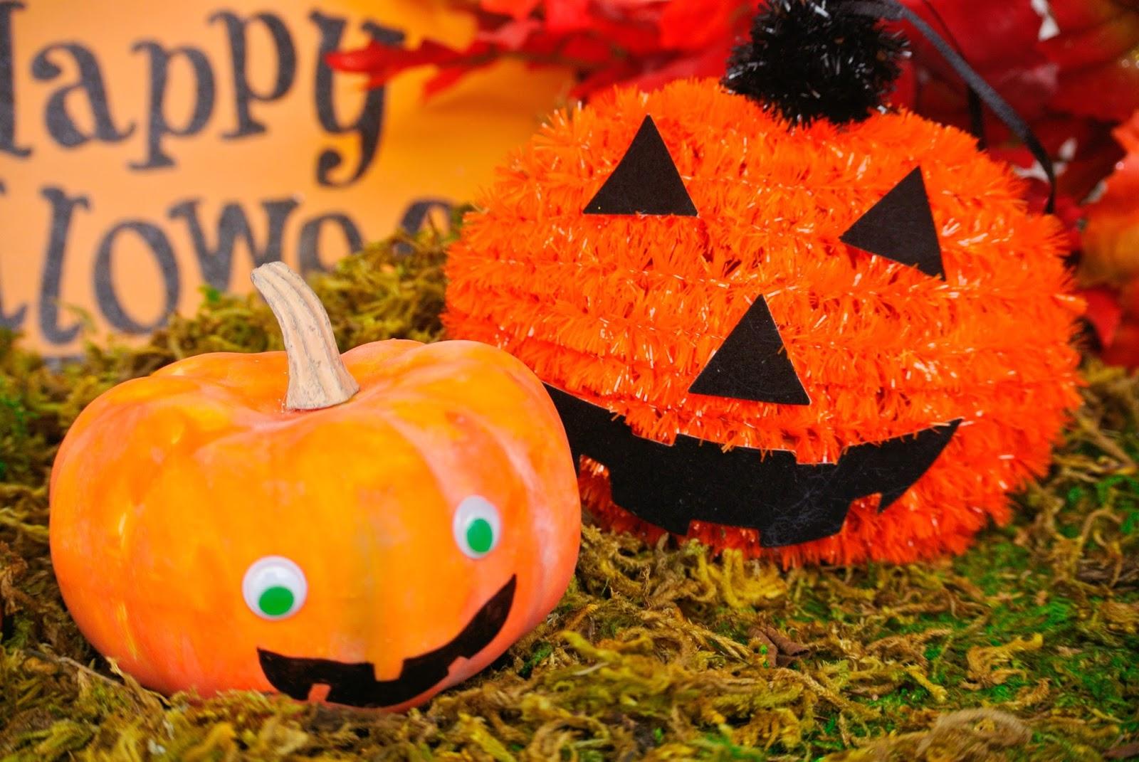 B is 4 no carving pumpkin decorating for A pumpkin decoration
