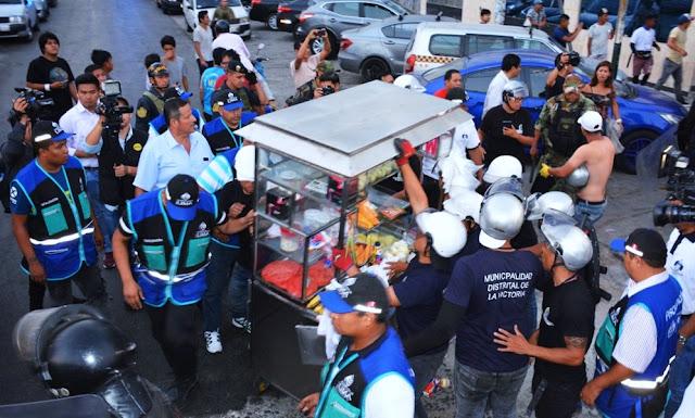 Decomisan mercadería informal en alrededores de Polvos Azules y Vía Expresa