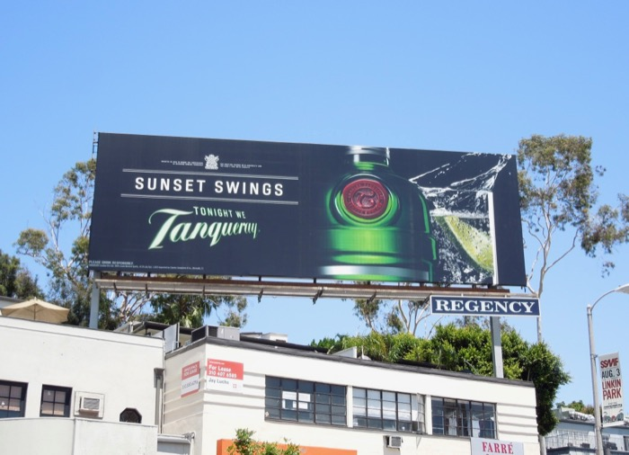 Tanqueray Gin August 2013 billboard