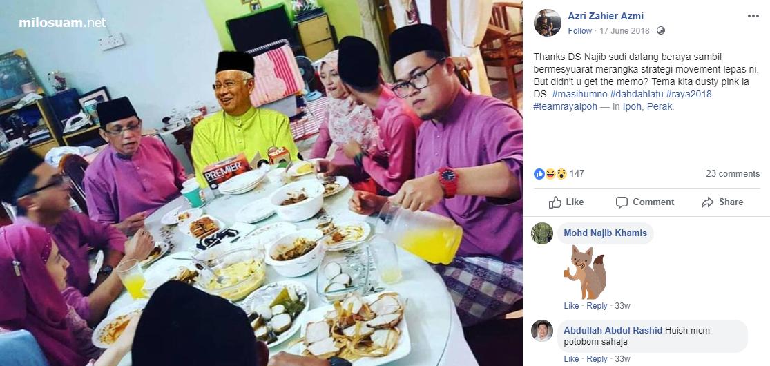 Boss Hausboom bersama Najib