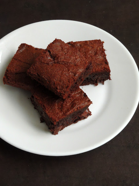 Fudgy double chocolate brownies