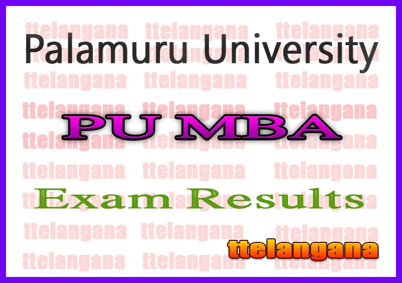 Palamuru University MBA 1st Sem Reg Supply Exam Results