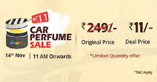 Droom Sale Get Car Perfume free on 14th October 2017