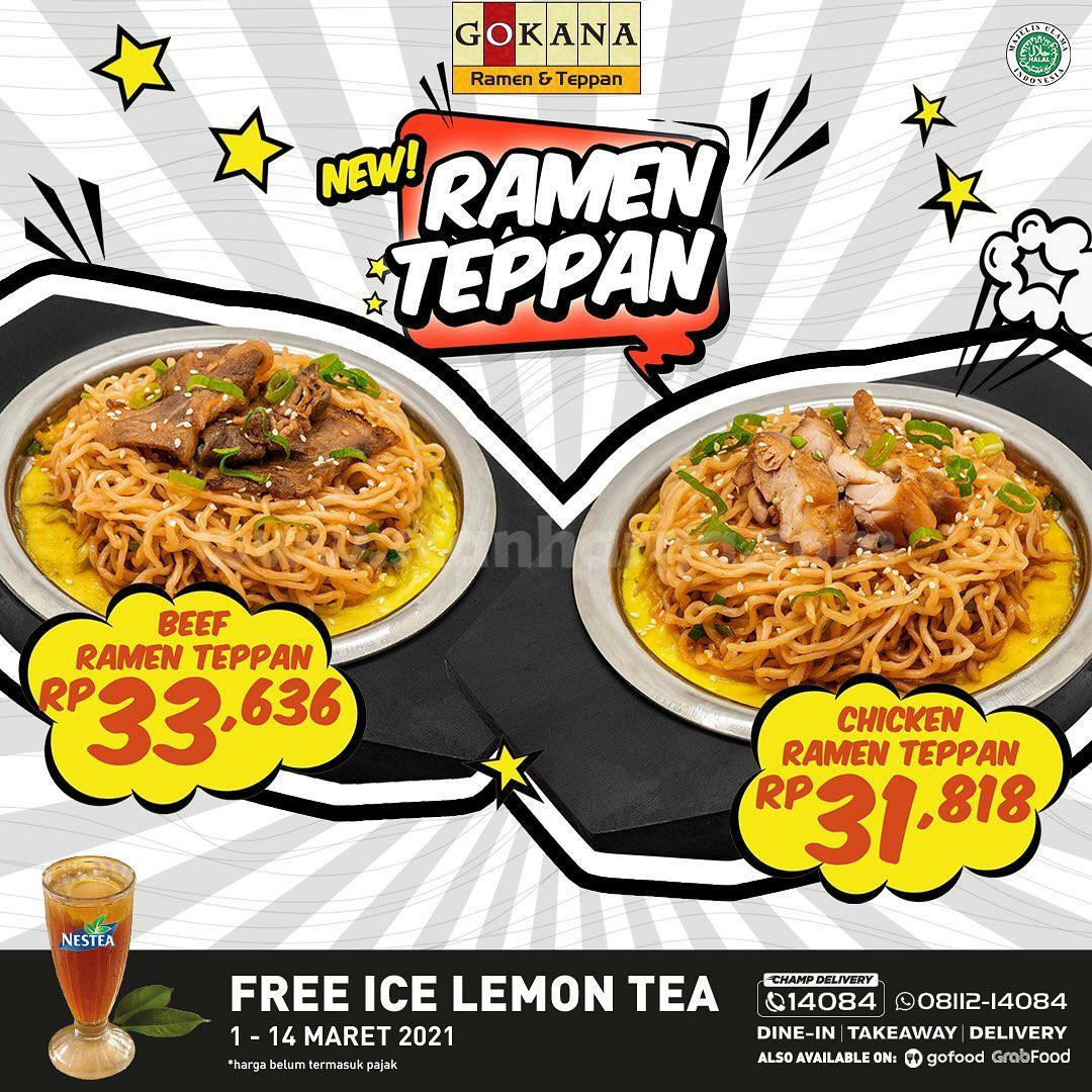 GOKANA Promo New Ramen Teppan mulai Rp 31Ribuan + Gratis Ice Lemon Tea