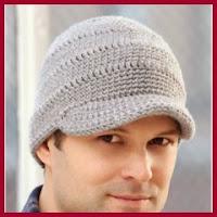 Gorra de hombre a crochet