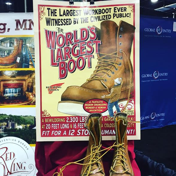 Red Wing Minnesota display at the Travel and Adventure Show