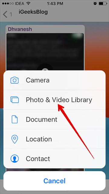 Cara Mengirim GIF di WhatsApp Pada iPhone