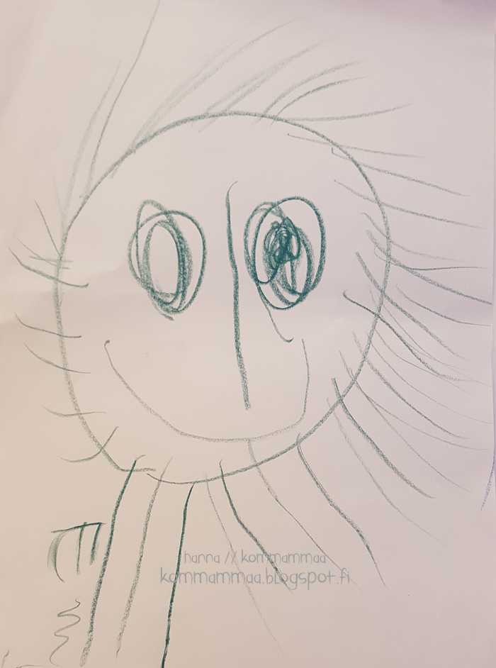lapsi piirtää omakuva onnea iloa