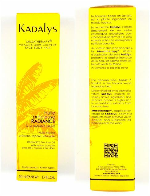 KADALYS MUSATHERAPY Huile Precieuse Radiance - Huile Seche