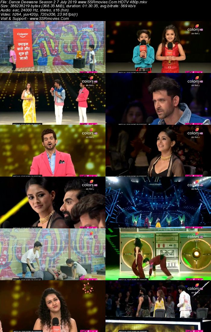 Dance Deewane Season 2 7 July 2019 HDTV 480p Full Show Download