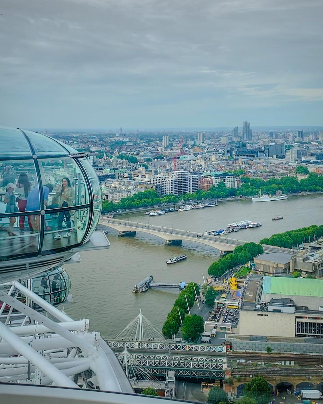Melihat pemandangan london eye